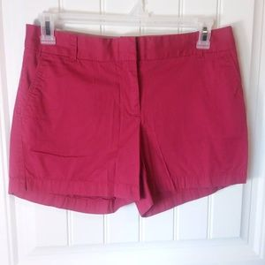 J. Crew Chino Broken In Shorts Pink Size 8